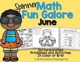 Spinner Math Fun Galore-June Printables Differentiated and