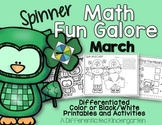 Spinner Math Fun Galore for March:  Printables-Differentia