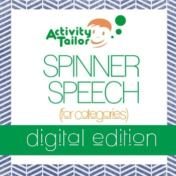 Spinner Speech for Categories (instant download)