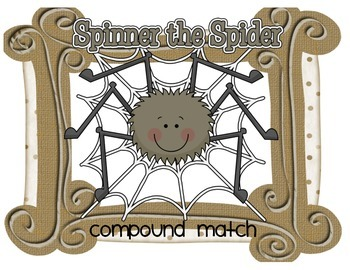 Spinner the Spider Compound Word Match