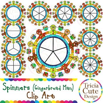 Spinners Christmas Clip Art – Gingerbread Man Glitter
