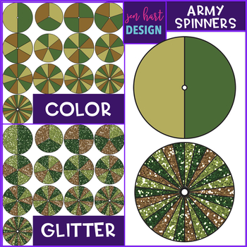 Spinners Clip Art - Army