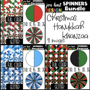 Spinners Clip Art Bundle - Holidays Around the World