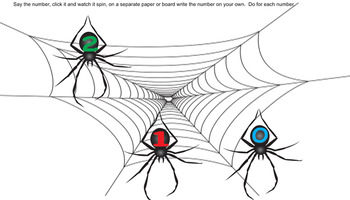 Spinning Spiders and Numbers 1-20