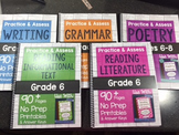 *Spiral Bound* HARD COPY Practice & Assess Bundle for Grade 6 ELA