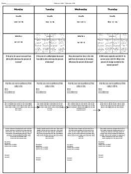Spiral Homework (7th grade Math) #2