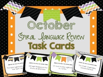 Spiral Language Review Task Cards-October