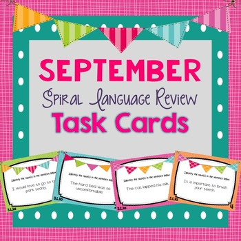 Spiral Language Review Task Cards-September