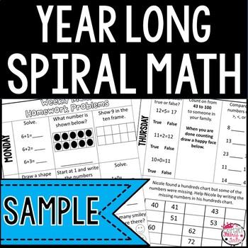 Spiral Math Homework Sample