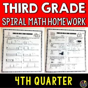 Math Homework Third Grade Quarter 4