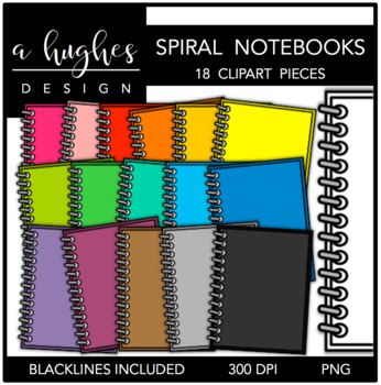 Spiral Notebooks {Graphics for Commercial Use}