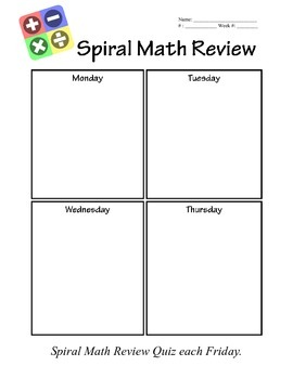 Spiral Review Template