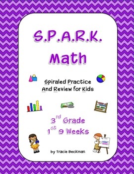 Spiraled STAAR/Common Core Math Review for 3rd Grade - 1st