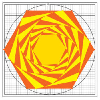 Spiraling Hexagons Coordinate Plane Math Graphing Activity