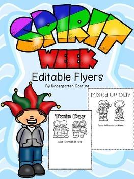 Spirit Day Editable Flyers