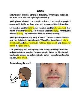 Spitting Social Story