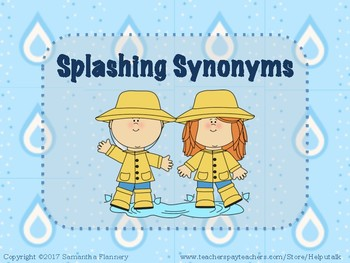 Splashing Synonyms