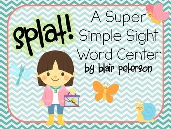 Splat! {A Super Simple Sight Word Center}