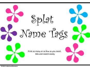 Splat Name Tags