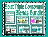 Splat Triple Consonant Blends Literacy Bundle with Assessment
