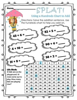 Splat! Using a Hundreds Chart to Add