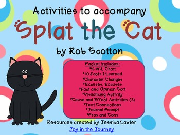 Splat the Cat Activity Packet