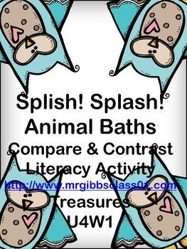 Splish! Splash! Animal Baths Compare and Contrast Activity