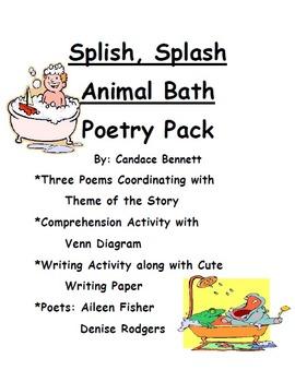 Splish, Splash Animal Baths Poetry Pack