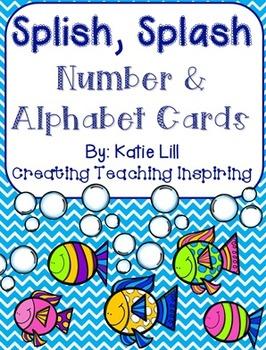Splish, Splash Number and Alphabet Cards