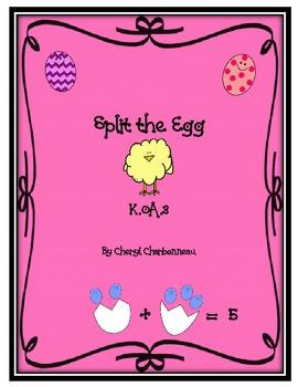 Split the Egg- K.OA.3