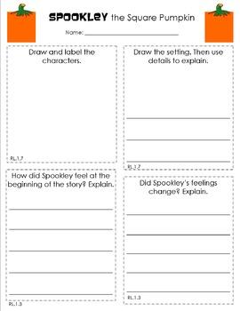 Spookley the Square Pumpkin Response Sheet