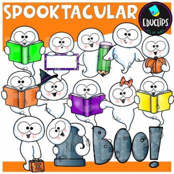Spooktacular Clip Art Bundle {Educlips Clipart}