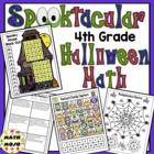 Halloween Math Activities - 4th Grade