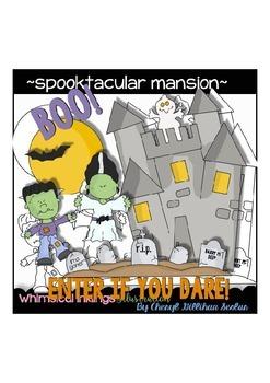Spooktacular Mansion Halloween Clipart