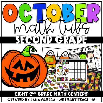 Spooktacular Math:  2nd Grade October Math Centers