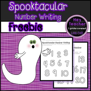 Spooktacular Number Writing 0-20 FREE
