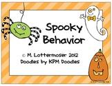 Spooky Behavior Management Coloring Mini-Pack