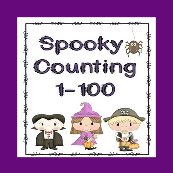 Spooky Counting 1-100 (Math Station Activity)