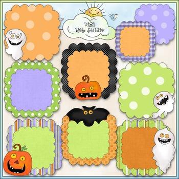 Spooky Days Halloween Frames Clip Art - Halloween Clip Art