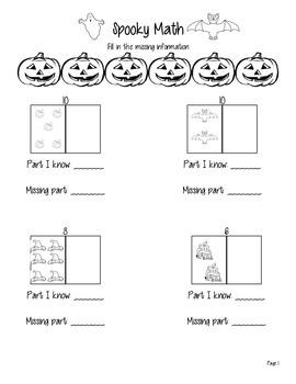Spooky Fall Math
