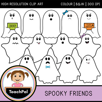 Spooky Friends - Halloween Ghost Clip Art *50% Off 48hrs Only*