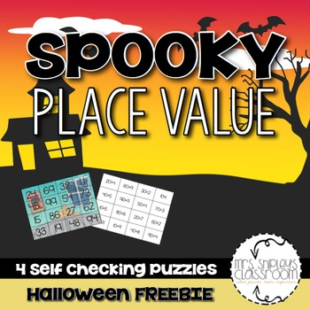 Place Value Spooky Halloween Puzzles