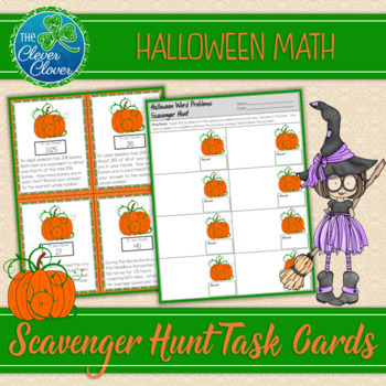 Halloween Word Problems - Scavenger Hunt