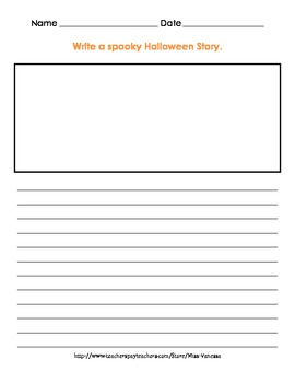 Spooky Halloween Story Writing Activity!