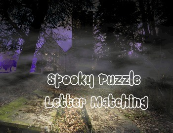 Spooky Puzzle Letter and Number Matching