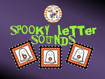 Spooky Letter Sounds PowerPoint