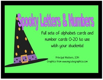 Spooky Letter and Number Cards
