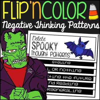 #octoberfestsale Spooky Mindset Halloween Flip'n Color Foldable