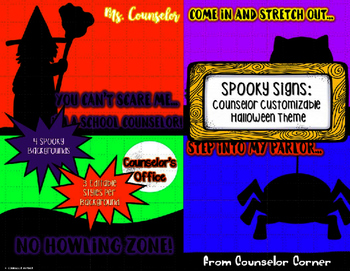 Spooky Signs - Counselor Customizable - Halloween Theme