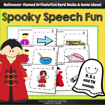 Spooky Speech Fun - R, S, L, TH